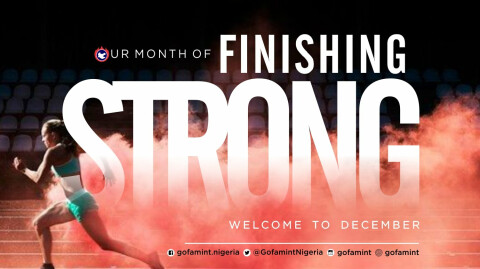 December - Our Month of Finishing Strong