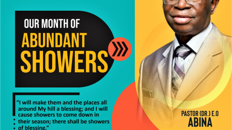 July - Our Month of Abundant Showers
